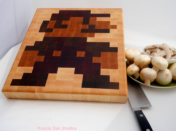 8 Bit Mario Cutting Board