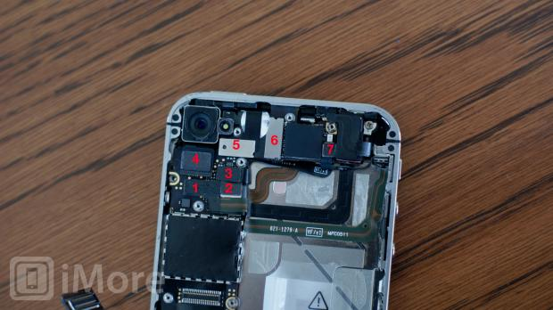 Remove cables from logic board iPhone 4 CDMA