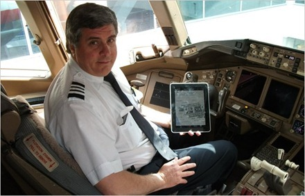 iPad in American Airlines Cockpit