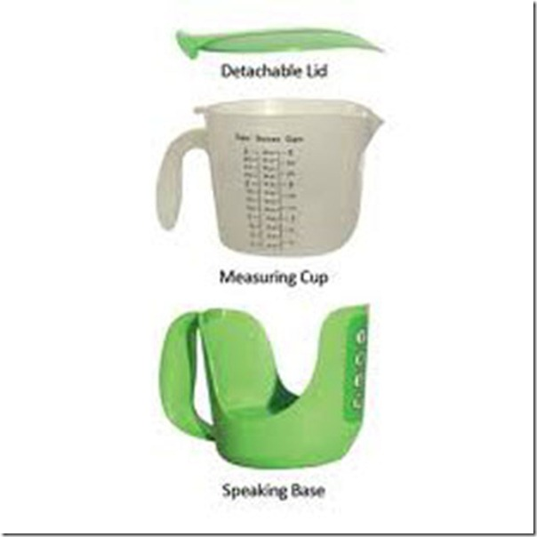 Future technology Innovative talking measuring cup