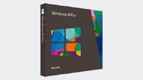 A boxed copy of Windows 8 Pro