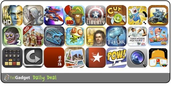 PadGadget Daily App Deal - 24 iPad Apps on Sale
