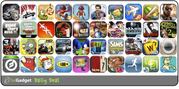 PadGadget Daily App Deal - 40 iPad Apps on Sale