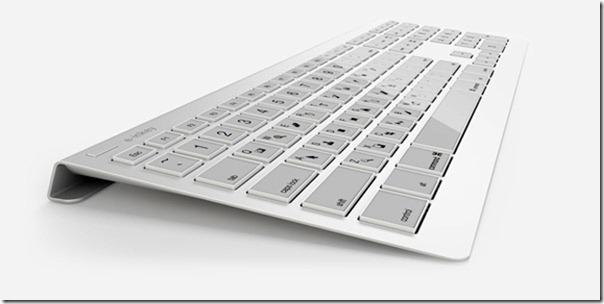 Future technology Concept of a wireless keyboard e-INKEY